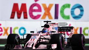Sergio P�rez, rodando con su Force India en M�xico