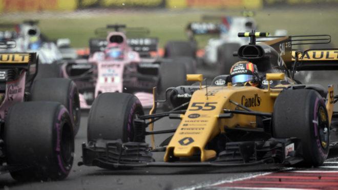Sainz, en el inicio del GP de México.