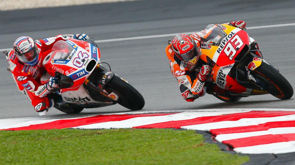 Márquez y Dovizioso, en Sepang
