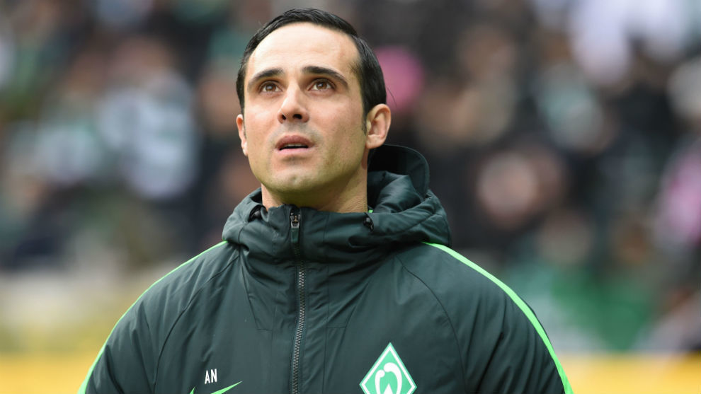 Alexander Nouri durante un partido con el Werder Bremen