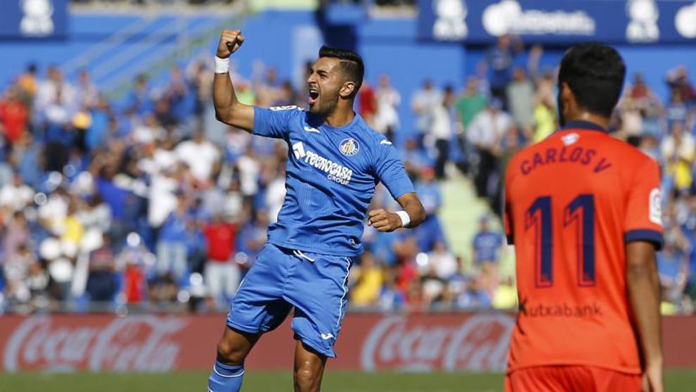 Ángel Rodríguez (30) celebras tras marcar en el partido entre el...