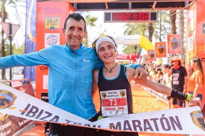 Miguel Heras y Silvia Rampazzo, en meta.