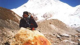 Juanito Oiarzabal, durante una de sus aventuras