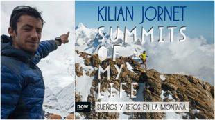 Kilian Jornet y la portada del libro: Summits of my Life.