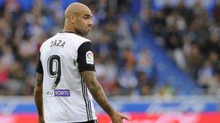 Zaza, durante el partido de LaLiga que midi� a Valencia y Alav�s.