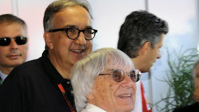 Sergio Marchionne y Bernie Ecclestone.