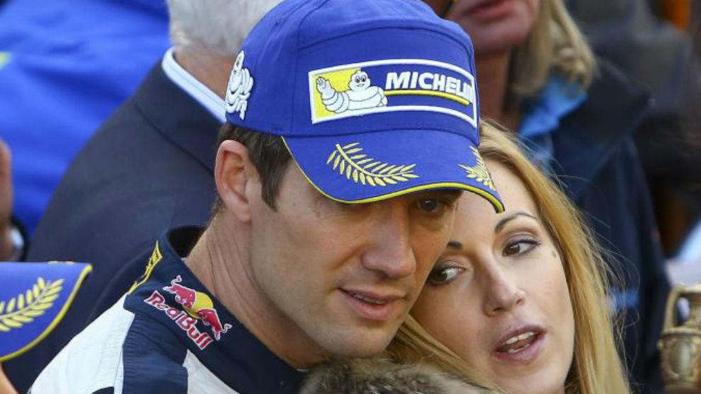 Ogier, con su esposa Andrea Kaiser, el pasado domingo