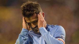David Villa se lamenta la derrota ante el Columbus