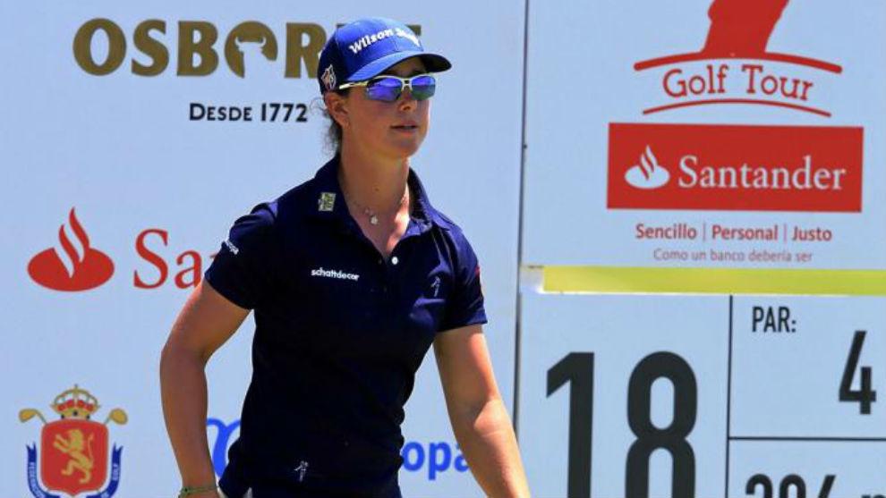 Nuria Iturrioz, durante una prueba del Santander Tour.