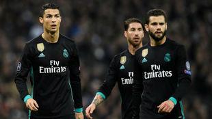 Cristiano, Ramos y Nacho en Wembley