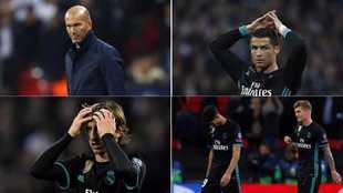 Zidane y los jugadores del Real Madrid se desesperaron en Wembley.