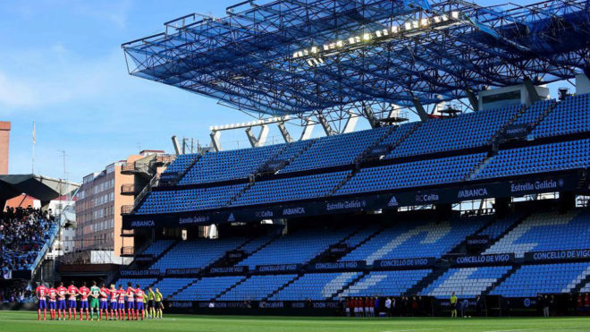 Imagen de la grada de Balaídos en el Celta-Atlético.