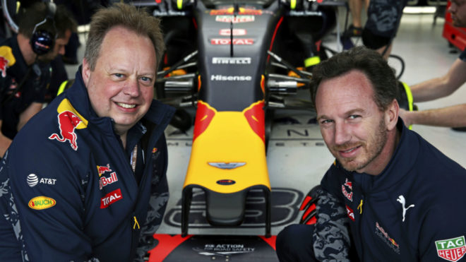 Andy Palmer y Christian Horner.