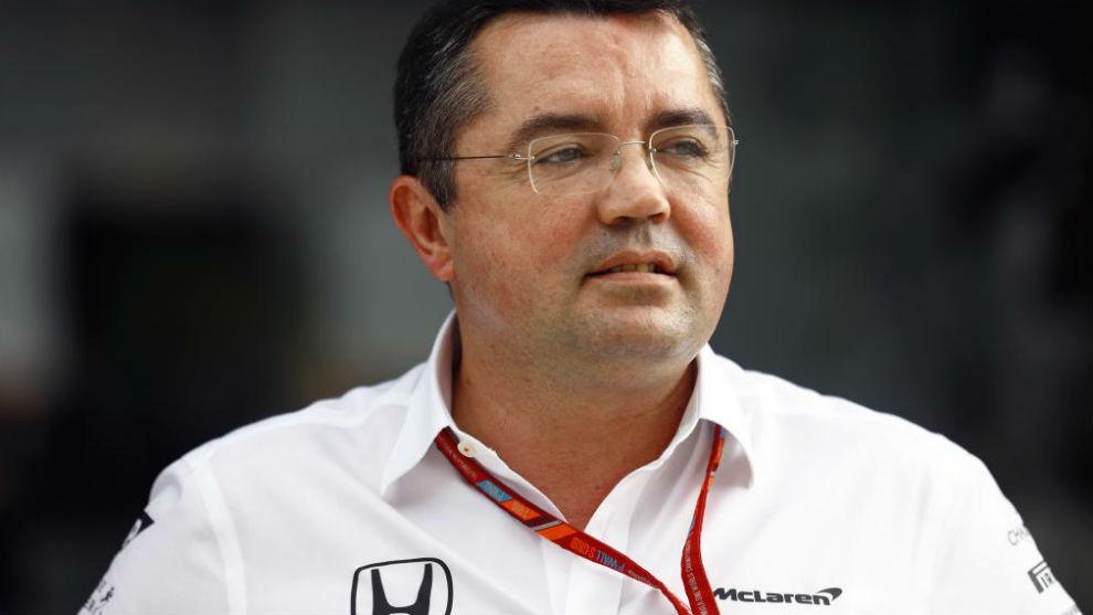 Eric Boullier, en el GP de México de este año.