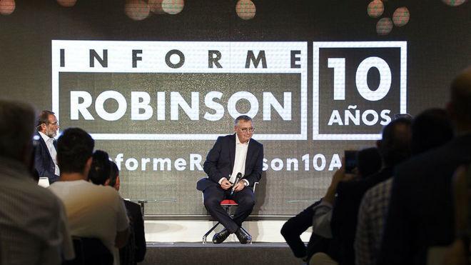 Michael Robinson durante la presentación de la décima temporada del...