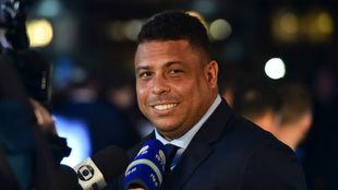 Ronaldo Nazario durante la gala de los premios The Best