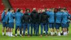 La plantilla del Madrid se conjur� en Wembley antes del partido ante...