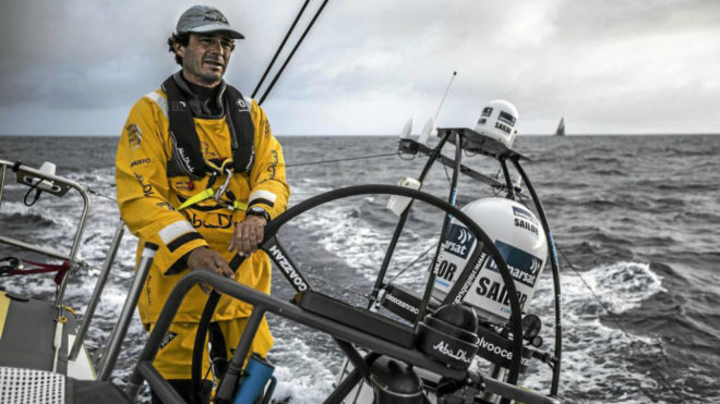 'Chuny' Bermúdez de Castro durante una regata con el 'Abu Dhabi Ocean...