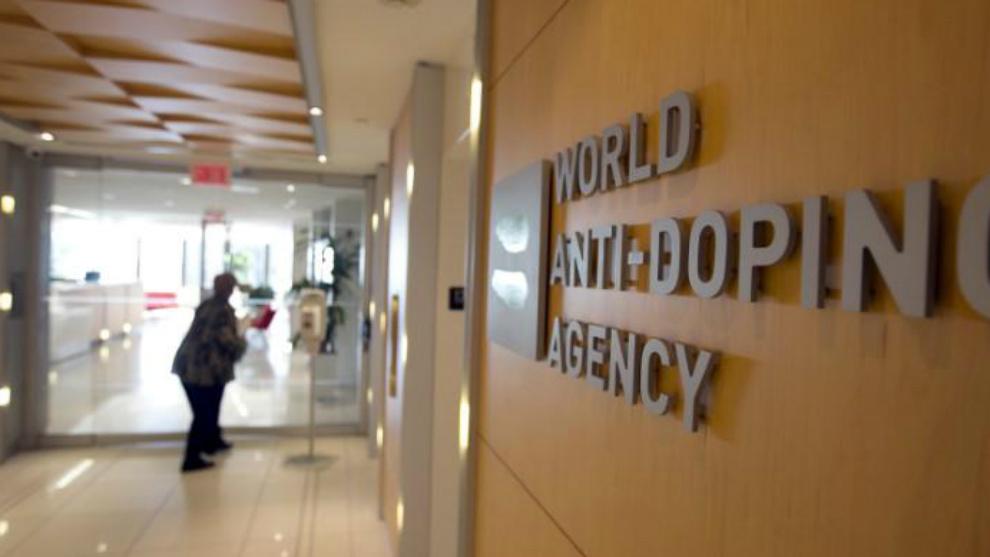 Entrada de la sede de la Agencia Mundial Antidopaje