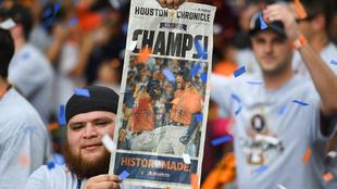 Jugadores y afición de Astros de Houston festejaron el título