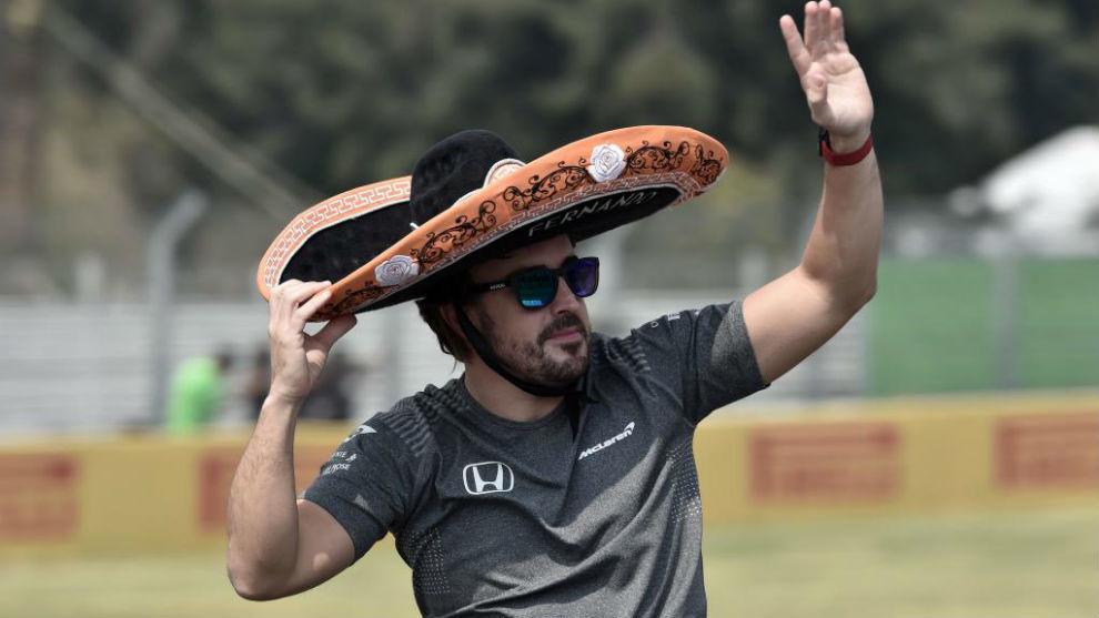 Fernando Alonso, en el último GP de México
