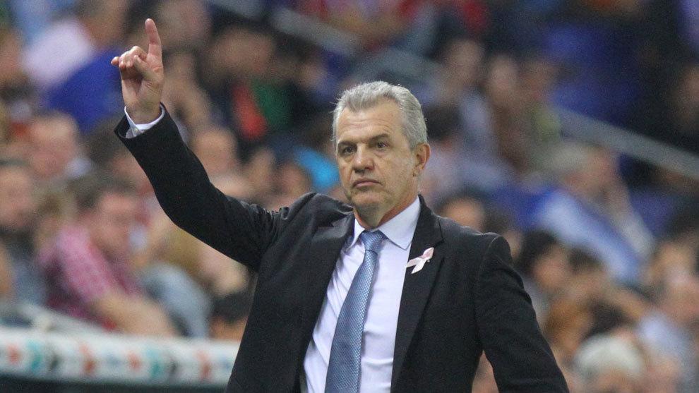 El 'Vasco', en un partido del Espanyol de Barcelona
