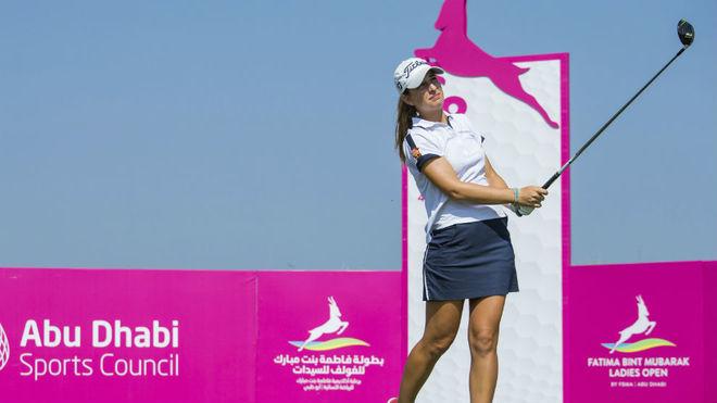 Luna Sobrón, en el Fatima Bint Mubarak Ladies Open.