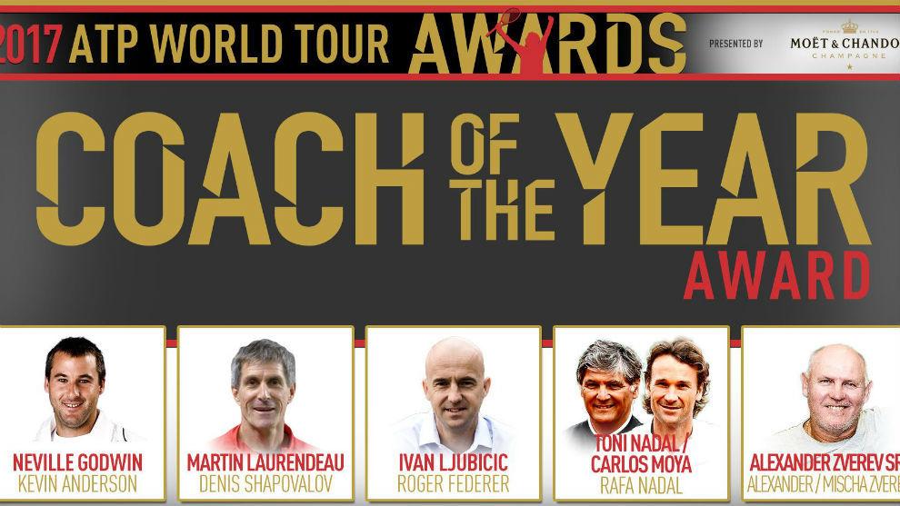 Los nominados a mejor entrenador del año