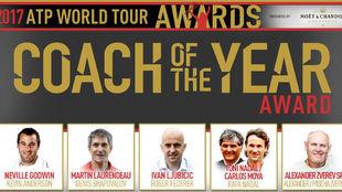 Los nominados a mejor entrenador del a�o