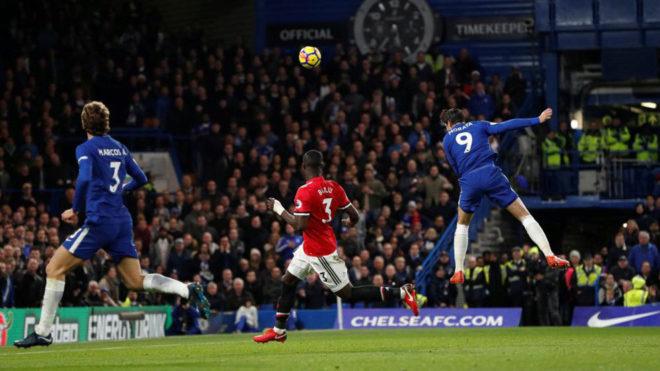 Morata remata de cabeza y marca el gol del triunfo.
