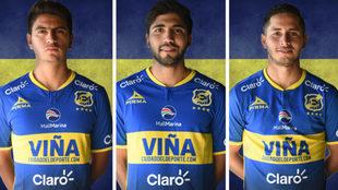 Francisco Venegas, Iván Ochoa y Steven Almeida