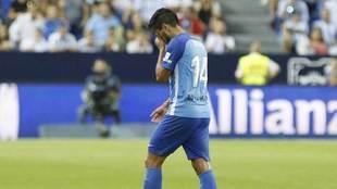 Recio se lamenta durante un partido