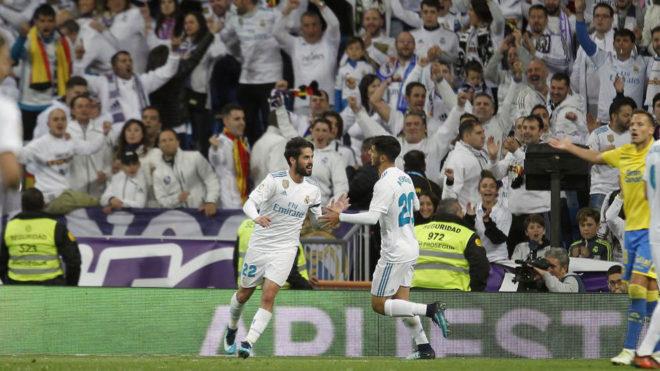 Isco y Asensio celebran ante Las Palmas.