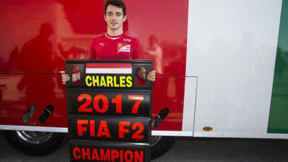 Charles Leclerc, campeón de la F2 en 2017