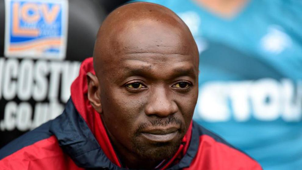 Makelele (44), durante un partido del Swansea