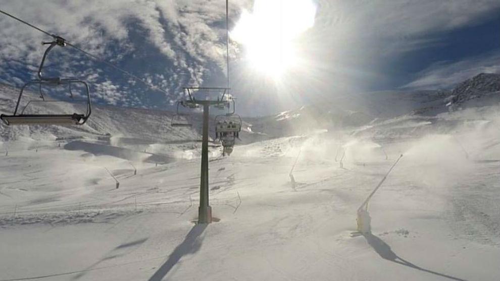 Estación de Valdezcaray en la actual temporada de nieve.