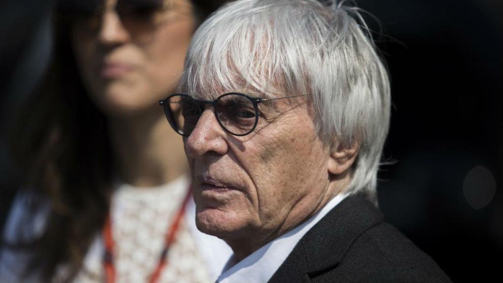 Bernie Ecclestone, exjefe de la F1, en el GP de Mónaco 2017