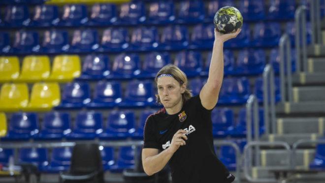 Jure Dolenec durante un entrenamiento.
