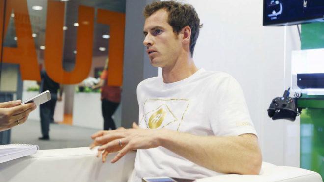 Andy Murray durante una entrevista con MARCA en el Mutua Madrid Open.