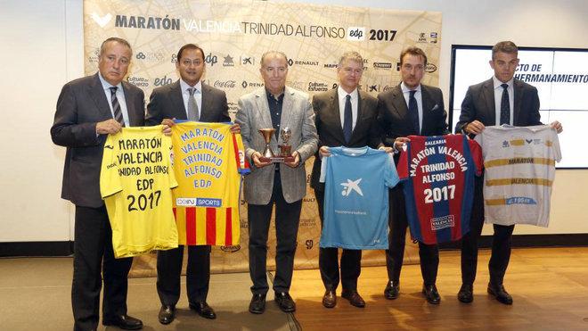 Los presidentes de Valencia, Villarreal, Levante y Valencia Basket...
