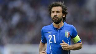Andrea Pirlo con la selección de Italia