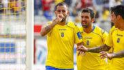 Nauzet Alem�n, en un partido con Las Palmas