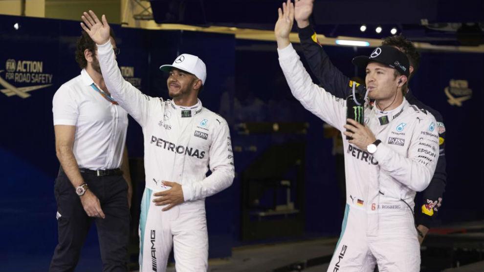 HAmilton y Rosberg en Abu Dabi 2016