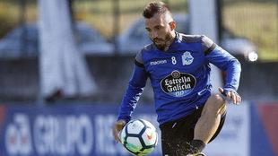 Colak, en un entrenamiento del Deportivo.