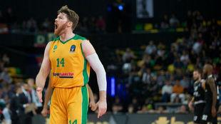Brian Coklin, jugador del Limoges, en el duelo en la Eurocup ante el...