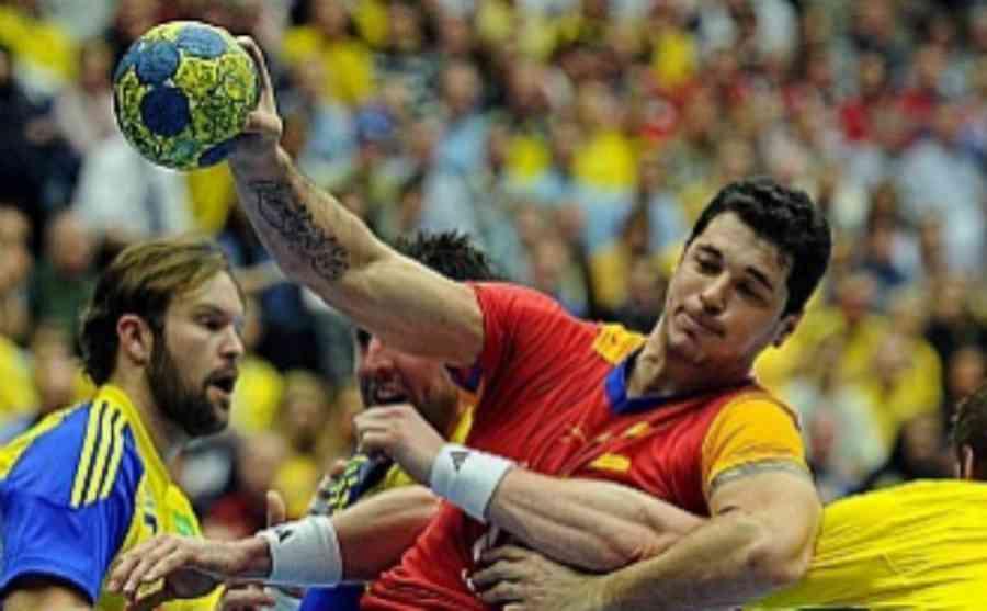 Alberto Entrerríos en uno de sus partidos con la selección