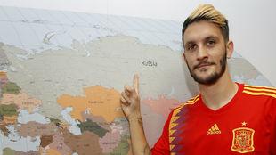 Luis Alberto señala a Rusia durante su visita a la redacción de...