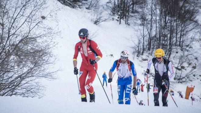 Kilian Jornet, en el Mundial de esquí de montaña de 2017.