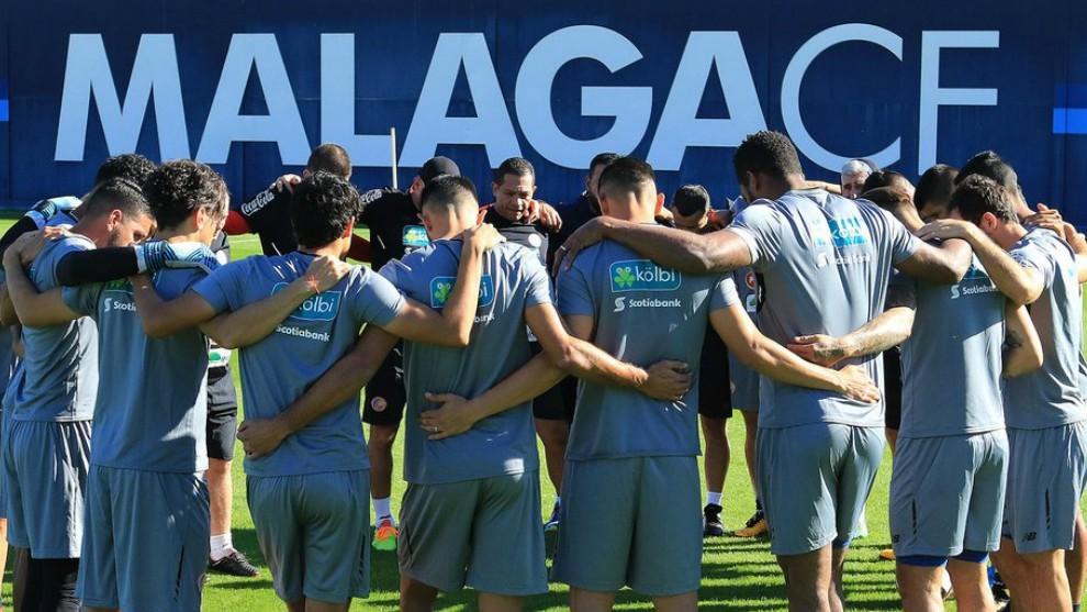 Entrenamiento de la selección de Costa Rica en Málaga