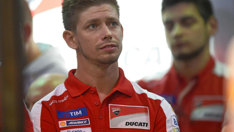 Stoner, durante unos entrenamientos con Ducati esta temporada.